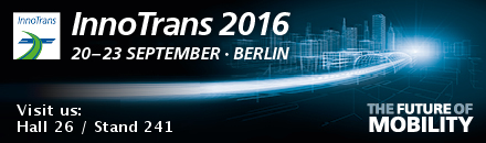 Innotrans 2016. Visit us: Hall 26 / Stand 241